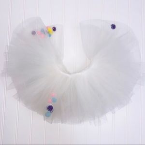 PUPPET WORKSHOP Multicolor Pom Pom  Tutu Skirt